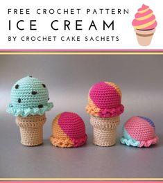 Crochet Cake, Crochet Food, Crochet Crafts, Crochet Projects, Crochet Amigurumi Free Patterns, Crochet Animal Patterns, Crochet Dolls, Kawaii Crochet, Cute Crochet