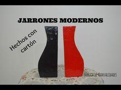 Jarrones modernos con cartón. Los Hobbies de Yola - YouTube Carton Box, Recycled Crafts, Tissue Boxes, Craft Videos, Craft Tutorials, Recycling, Design, Google, Youtube