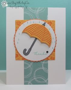 Today, our very talented team is doing a blog hop featuring some Stampin' Up! stamp sets and products from the new catalog. I have chosen to feature the Weather Together stamp set and Umbrella Wea…