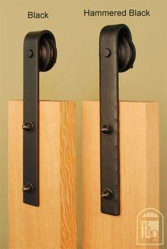 Real Sliding Hardware - Hammered Flat Track Kit, $393.00 (http://www.realslidinghardware.com/Hammered-Barn-Door-Hardware-Kit/)