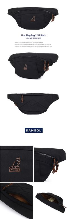캉골(KANGOL) Lina Sling Bag 1217 Black