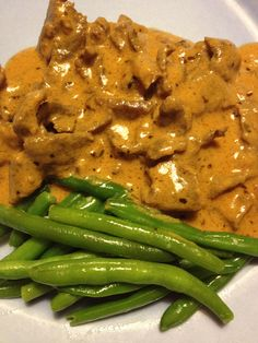 Beef Stroganoff, Recipes From Heaven, Deli, Food Inspiration, Green Beans, Bacon, Dinner Recipes, Food And Drink, Cooking Recipes