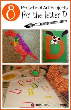 8 Letter D crafts for kids