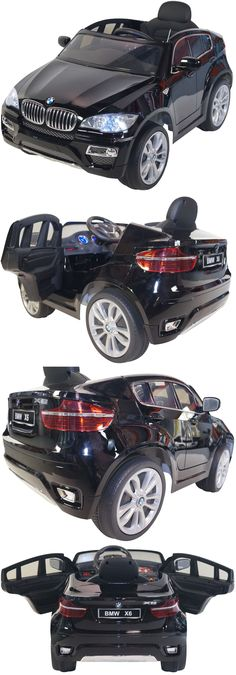 Toy Vehicles 145946: Bmw X6 Style 12V Battery Powered Electric Ride On Kids Toy Car Remote Rc Black -> BUY IT NOW ONLY: $389 on eBay!