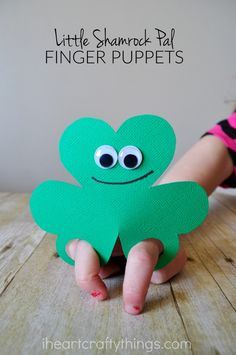 These cute little shamrock finger puppets are so easy to make and kids will love playing with them. They make a quick and easy St. Patrick's Day Craft for kids of all ages.