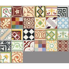 Carreau de ciment intérieur Patchwork PREMIUM, patchwork multicolore, 20 x 20 cm