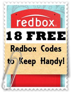 Redbox Codes Master List: 18 Free Rental Codes (Keep this list handy!) - Time 2 Save Workshops