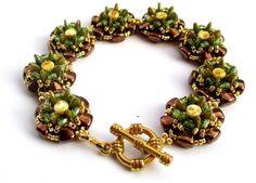 Návod zdarma - Free tutorial NIB-BIT, Crescent, Přesýpací hodiny/Hourglass, Ohňovky/Firepolished beads, TOHO