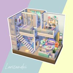 Sims Free Play, Free Sims 4, Sims 4 Loft, Sims 4 Challenges, Sims 4 House Plans, Sims 4 Bedroom, Sims 4 House Design, Casas The Sims 4, Sims Building