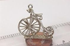 Miniature Vintage Sterling Silver Victorian Bicycle Penny Farthing Charm | eBay Penny Farthing, Minis, Bicycle, Miniatures, Bling, Victorian, Charmed, Sterling Silver, Ebay
