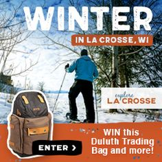 """Winter """"Local Stuff"""" Backpack Giveaway. http://www.explorelacrosse.com/giveaways/winter-local-stuff-backpack-giveaway/?lucky=177364"""