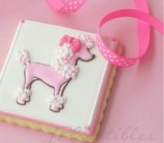 beautiful Poodle cookies