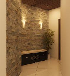 Kerala Home Designs Kerala House Design, Kerala Houses, Foyer, Lighting, Ideas, Home Decor, Decoration Home, Light Fixtures, Room Decor