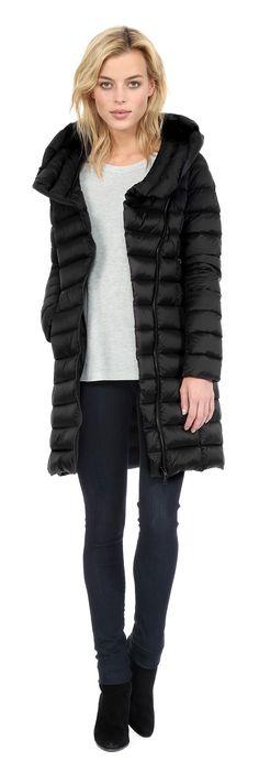 Soia & Kyo KARELLE-F6 Light weight down jacket in Black