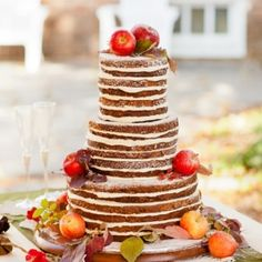 The top wedding cake ideas for fall mountain brides. Image by Carried Away Cuisine