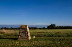 Historical Marker noting last Indian fight in Osborne County Kansas