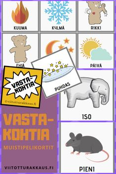 viitotturakkaus.fi-2-1 Finnish Language, Kids Study, Kindergarten Crafts, Early Childhood Education, Pre School, Videos Funny, Playing Cards, Teaching, Activities