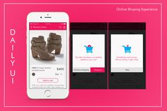 #dailyui - 011 and 012 (online shopping experience)