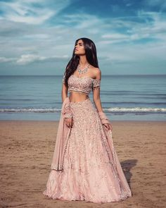 Beautiful Indian Ethnic Outfit for bride - Wedding Ceremony Indian Lehenga, Indian Gowns, Indian Attire, Pakistani Dresses, Indian Wear, Pink Lehenga, Indian Prom Dresses, Bride Dresses, Wedding Dresses