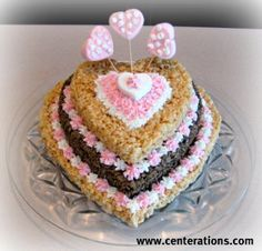 Amazing valentines rice krispy cake!