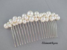 Bridal comb pearl