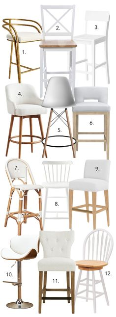 Brilliant 10 Best White Bar Stools Images Kitchen Remodel Kitchen Pabps2019 Chair Design Images Pabps2019Com