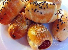 receita de pãozinho recheado doguinho de Benjamim Abraão