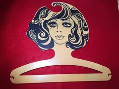 Vintage Retro Flapper Girl Art Deco Style Hard Plastic Clothes Hanger B & G  | eBay