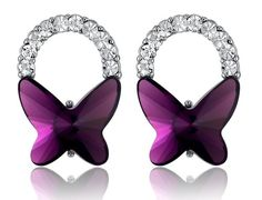 Butterfly Bow Swarovski Elements Crystal and Sparkling Rhinestones Stud Earrings (Byzantium Purple Color) 1141801 Arco Iris Jewelry,http://www.amazon.com/dp/B00CK2API8/ref=cm_sw_r_pi_dp_hX4ysb0BX5S3XN8G