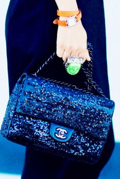 Bling Bling Navy blue Chanel bag xx