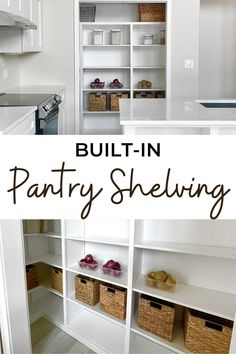 This is the best way to build nice pantry shelving, that will last a lifetime and looks great. Free plans and video by Ana-White.com. #anawhite #anawhiteplans #diy #diyshelving #buildinshelving #pantry #kitchen Beautiful Kitchen Designs, Beautiful Kitchens, Cool Kitchens, Design My Kitchen, Kitchen Decor, Pantry Inspiration, Built In Pantry, Building A Cabin, Pantry Shelving