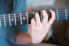 Imagem de guitar, music, and heart