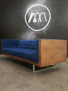 $2500-Mid Century Modern Tufted Milo Baughman Style by TDFurniture