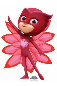 Owlette from PJ Masks Mini Cardboard Cutout / Standup - New ideas Pj Masks Costume, Pj Masks Owlette Costume, Red Costume, Costumes, Pj Mask Party Decorations, Pjmask Party, Pj Masks Birthday Cake, Festa Pj Masks, Mask Drawing