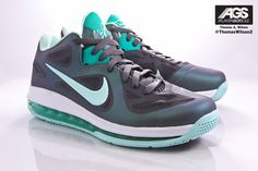 big sale d1d1c 50c3d Discount Nike Lebron 9 Low Easter Pack (Dark Gray Mint Candy-Cl Gray-New  Green)