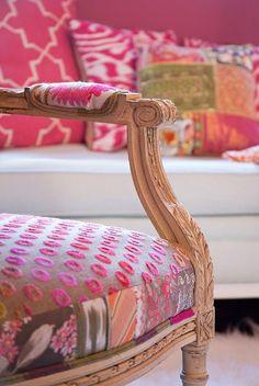 Love mixing fabrics