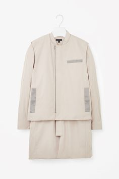 COS image 6 of Two-piece coat in Stone