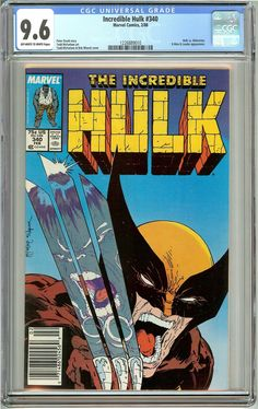 Incredible Hulk #340 (1988) CGC 9.6 OW to White Pages 1226889010