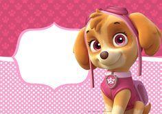Convite para festa infantil Patrulha Canina para Meninas                                                                                                                                                      Mais
