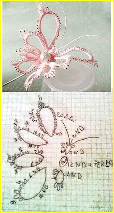 Tatting free pattern - frivolitè - Butterfly
