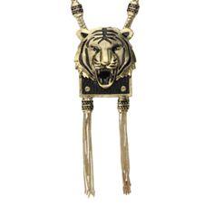 Maxi colar tigre dourado R$89
