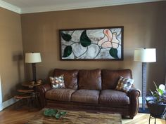 Sofa, Couch, Stained Glass Windows, Furniture, Home Decor, Settee, Settee, Decoration Home, Room Decor