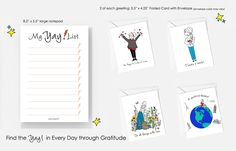 Yay! Gratitude Bundle - Celebrate National Card & Lettering Writing Month