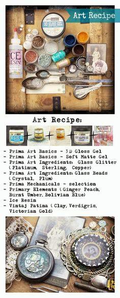 Finnabair: Art Recipe Wednesday: Vintage and Steampunk Pendants