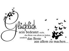 Wall decal Make the best of everything .de - bride, wedding dresses, bridal shoes, bridal hair, bridal makeup - Wall decal Make the best of everything … at Homesticker. One Word Tattoos, Cool Tattoos, Cute Text, German Quotes, Cool Words, Decir No, Wall Decals, Encouragement, About Me Blog