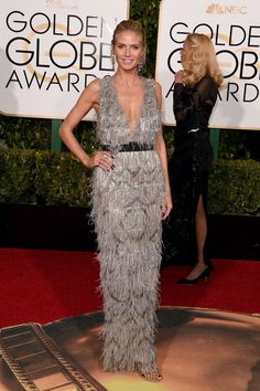 Heidi Klum attends the 73rd Annual Golden Globe Awards held at the Beverly Hilton Hotel on January 10, 2016 in Beverly Hills, California.