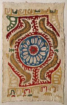 Embroidered silk kaitag, Daghestan, ca. 1600-1800.