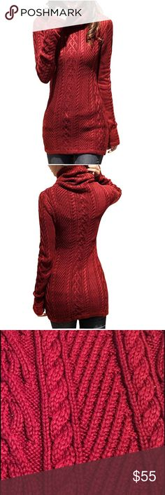 Knit long sleeved sweater.  <ul class=