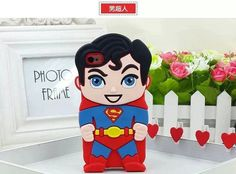 """New 3D Cartoon Super Heroes Batman Spider Man Captain America Iron Man Silicone Rubber Phone Cover Case For iPhone 6 6S 4.7"""""""