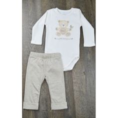 Conjunto body e calça Nature Mini & Kids